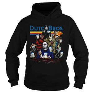 Horror Character movie Dutch Bros coffee hoodie