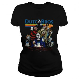 Horror Character movie Dutch Bros coffee ladies tee