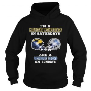 Im a Michigan Wolverines on Saturdays and a Detroit Lions on Sundays hoodie