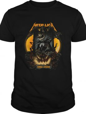 Jack Skellington Halloween Metallica 1981 2019 shirt
