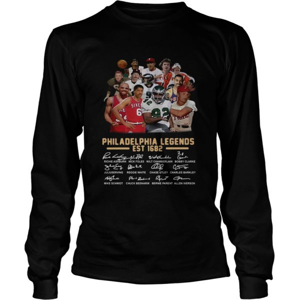 Philadelphia legends est 1682 signature longsleeve tee