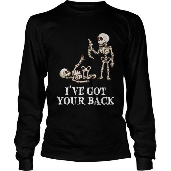 Skeleton Ive got your back longsleeve tee