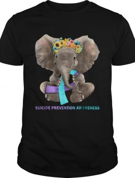 Suicide Prevention Awareness Elephant Tshirt