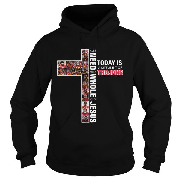 All I need today is a little bit of Trojans and a whole lot of Jesus hoodie