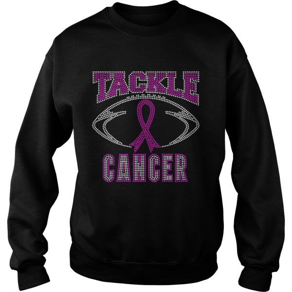 Breast cancer awareness rhinestone tackle football sweatshirt