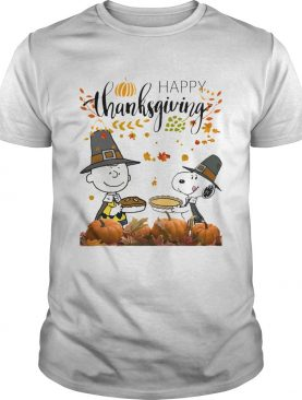 Charlie and Snoopy Peanuts happy Thanksgiving shirt