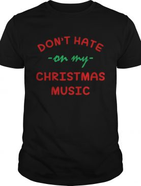 Don't hate on my Christmas music sweater