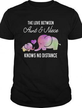 Elephants the love between aunt and niece knows no distance shirt