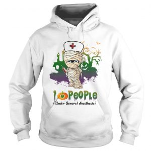 Halloween I Love People Funny Nurse hoodie