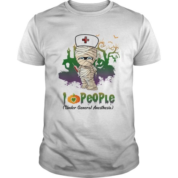 Halloween I Love People Funny Nurse unisex