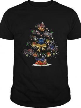 Motorcycle Christmas Tree Shirt