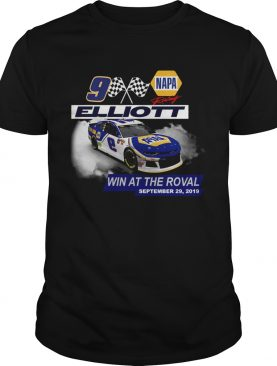 Napa Chase Elliott No 9 team win at the roval September 29 2019 shirt