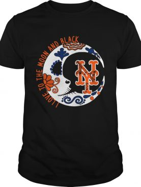 New York Mets I love to the moon and black shirt