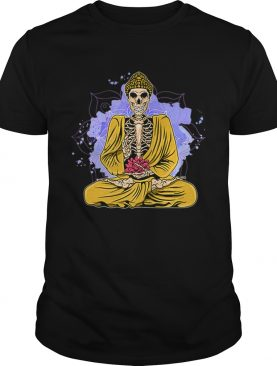 Nice Halloween Yoga Meditating Skeleton Yogi Namaste shirt