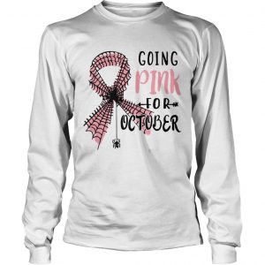 Spider Going Pink for October longsleeve tee