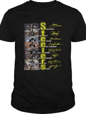 Steelers Jones Stallworth Jerome Bettis Joe Greene Terry Bradshaw signature shirt