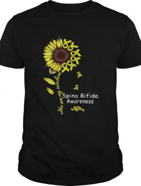 Sunflower you are my sunshine Spina Bifida Awareness shirt