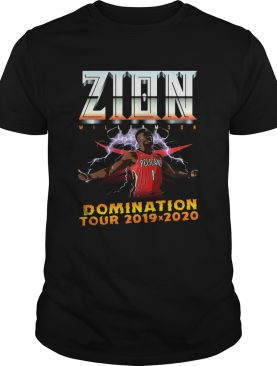 Zion Williamson Domination tour 2019 2020 shirt