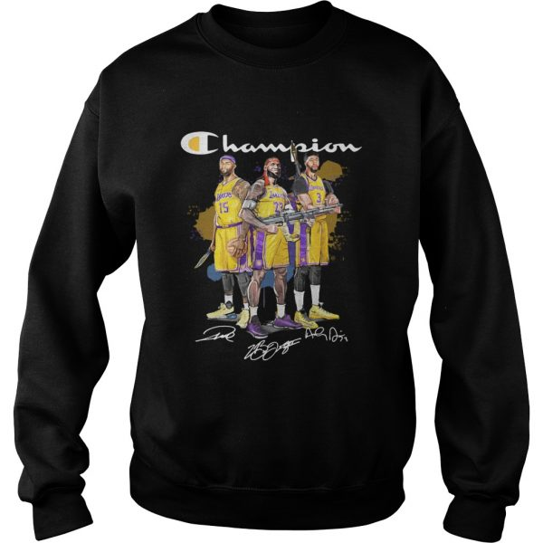 Angeles Lakers DeMarcus Cousins Anthony Davis LeBron James Champion signatures Shooter sweatshirt