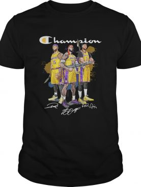 Angeles Lakers DeMarcus Cousins Anthony Davis LeBron James Champion signatures Shooter shirt