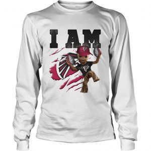 Baby Groot I Am Atlanta Falcons longsleeve tee