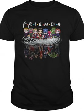 Friends Avengers Chibi characters water reflection shirt