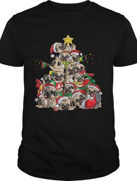 Top Pug Christmas Merry Pugmas Xmas Tree Santa Boys Gifts shirt