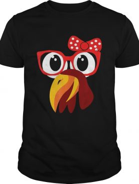 Cute Turkey Face With Glasses & Bow Nerdy – T-shirt
