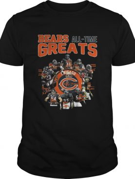 Chicago Bears All Time Greats Players Signatures shirt