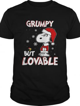 Grumpy but lovable Snoopy Christmas shirt
