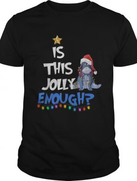 Eeyore Is this Jolly enough Christmas light shirt