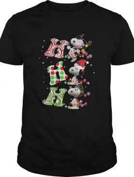 Ho Ho Ho Santa Snoopy Christmas sweater