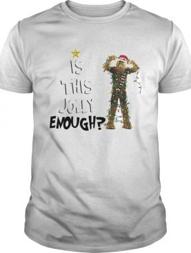 Santa Chewbacca is this jolly enough christmas shirt