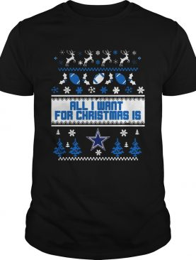 All I want for christmas is Dallas Cowboys ugly christmas sweater