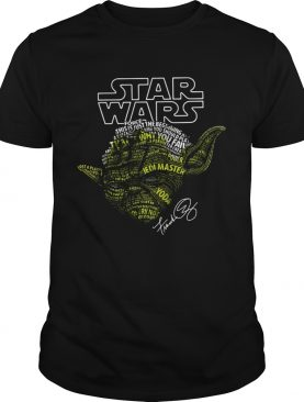 Yoda Star Wars Force This Is Just The Beginning Signature Shirt