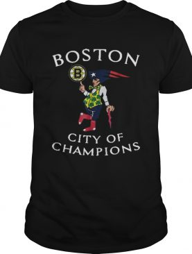 New England Patriots Boston Bruins city of Champions shirt
