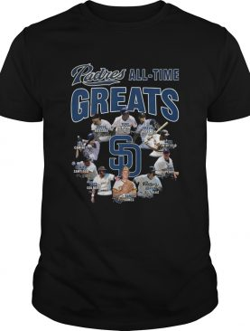 San Diego Padres All-time Greats Players Signatures shirt