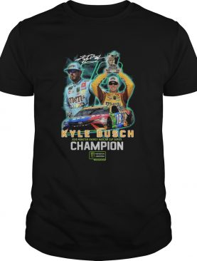 Kyle Busch 2019 Monster Energy Nascar Cup Series Champion Signature Shirt