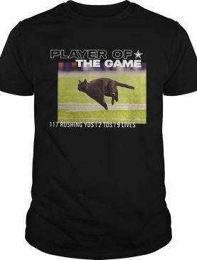 Dallas Cowboys Black Cat Player Of The Game 117 Rushing YSD 2 TDS 9 Lives Shirt