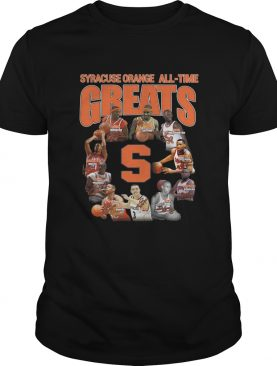 Syracuse Orange football All-time Greats Players Signatures shirt