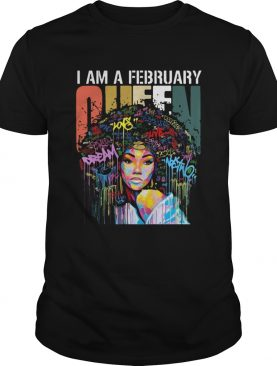 I am A February Queen Colorful Vintage shirt