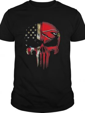 Skull American flag Arizona Cardinals Nfl shirt