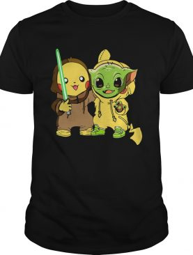 Baby Yoda And Baby Pikachu Shirt