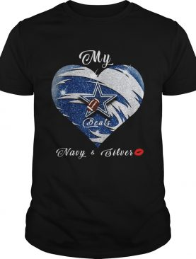 My Dallas Cowboys Navy & Silver Heart Beats shirt