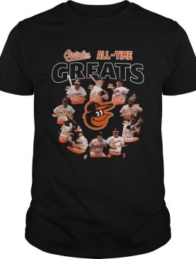 Baltimore Orioles all time great players signatures shirt
