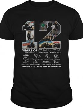 12 Years of Chuck thank you for the memories shirt