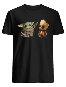 Baby Yoda Frog and Groot shirt