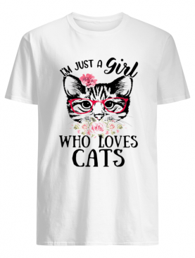 I'm Just A Girl Who Loves Cats Floral Shirt