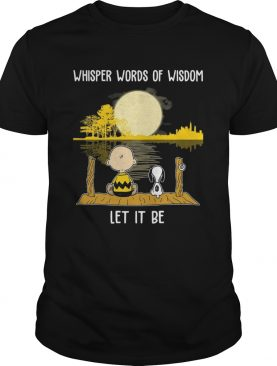 Charlie Brown And Snoopy Whisper Words Of Wisdom Shirt