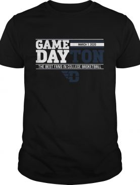 Game dayton the best fans in college basketball shirt
